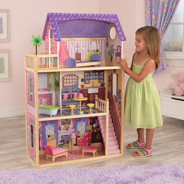 Casa de Muñecas Kayla con 3 Pisos de Juego