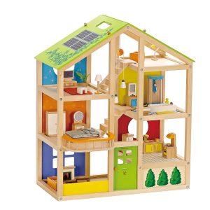 Hape Casa de muñecas Madera Grande con Muebles