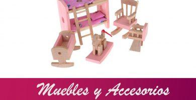 accesorios y muebles casitas muñecas