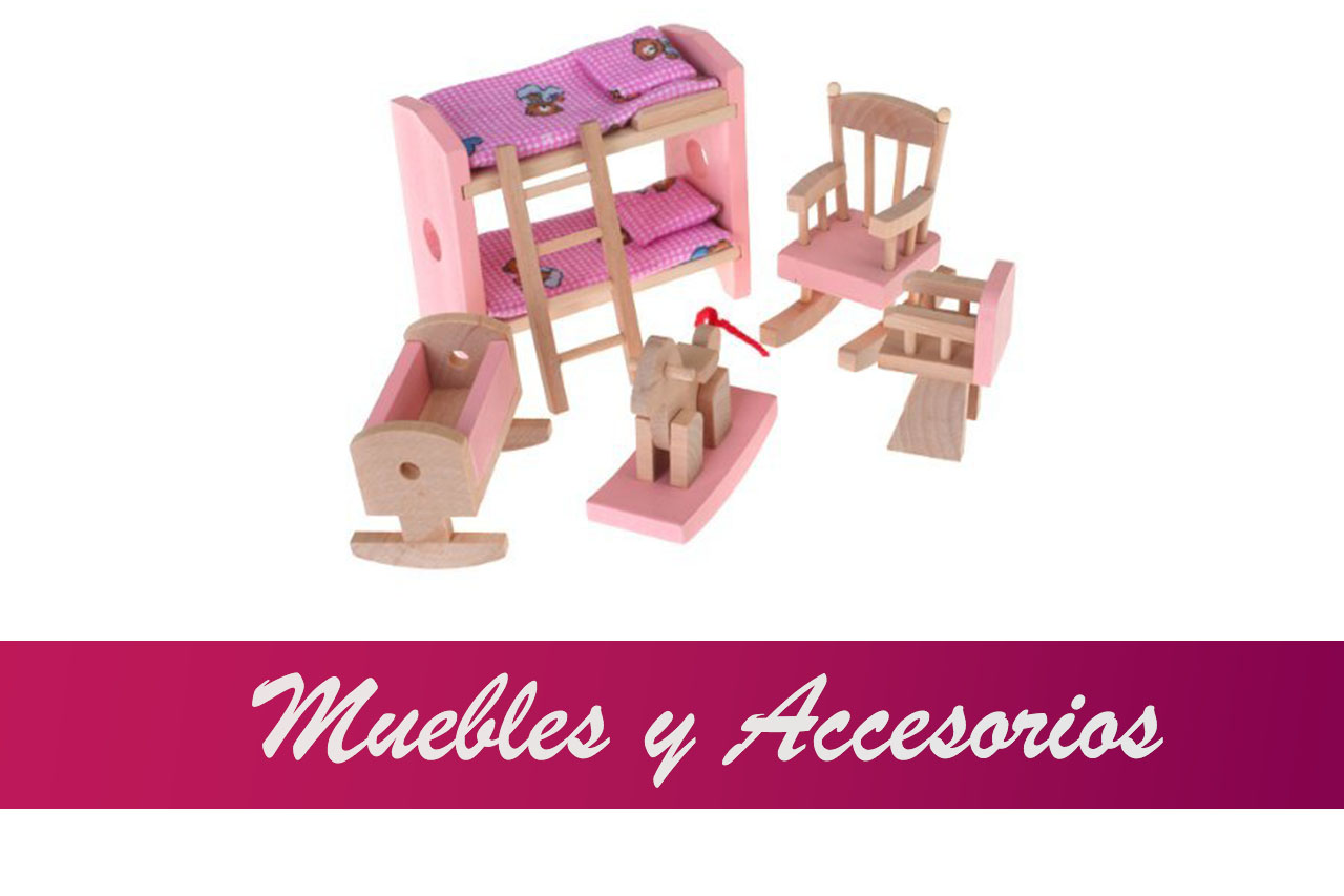 Casa de Muñecas Accesorios Madera Mobiliario Cocina Muebles para