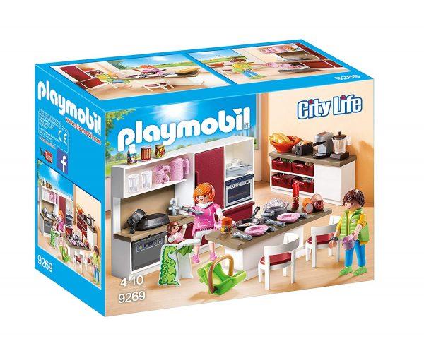 casa de muñecas playmobil con cocina