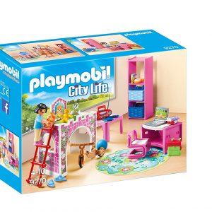 playmobil casa de muñecas rosa barata