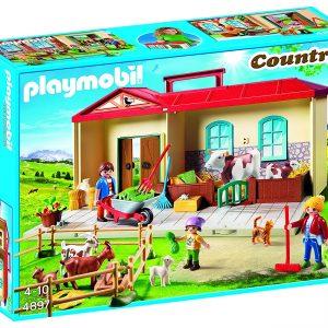 playmobil granja maletin muñeca
