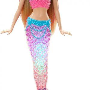 Barbie Dreamtopia, muñeca Sirena Luces de Arcoíris