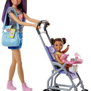 Barbie Muñeca Skipper hermana de Barbie niñera de paseo