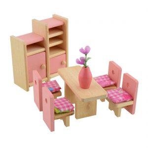 Conjunto de muebles para casa de muñecas juguete para bebé Niños