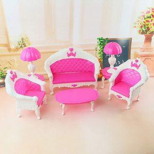 Dormitorio Accesorios casa para muñeca niños Juguete