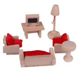 Mueble para casas de muñecas, sala de estar Mueble