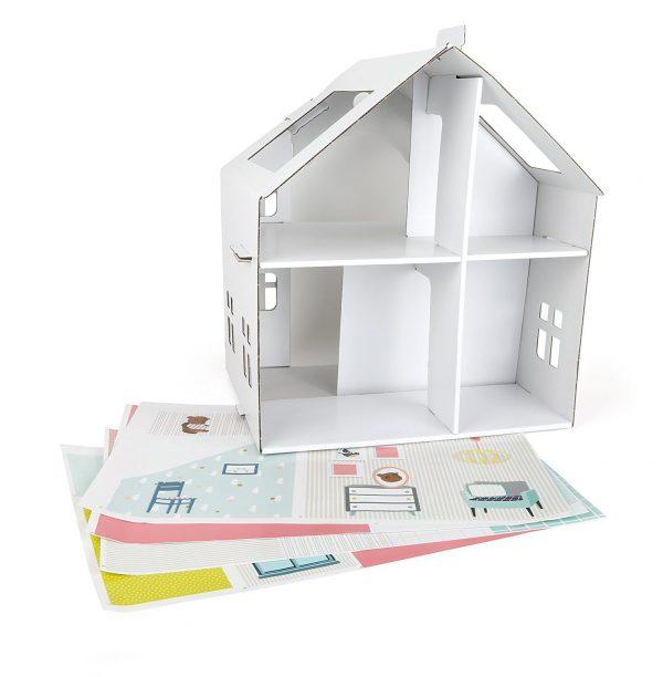 casa para muñecas de carton