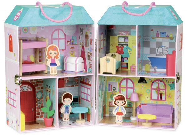 casas de muñeca de carton