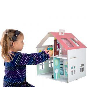 comprar casa muñecas de carton barata