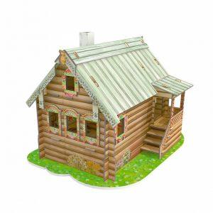 puzzle casa de muñecas de carton